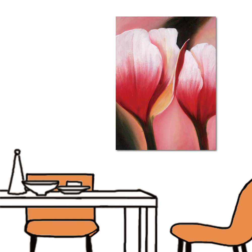 24mama掛畫 單聯式 花卉無框畫-粉紅佳人30x40cm