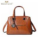 法國BAGGLY&CO波利亞真皮個性剪裁手提側背包(二色)