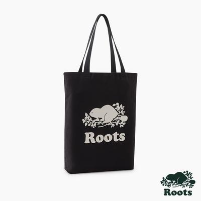 Roots配件-有機棉帆布袋-黑色