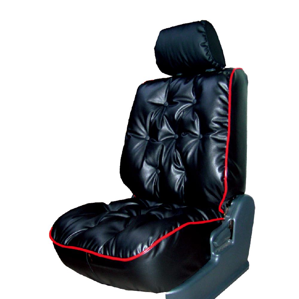 【葵花】量身訂做-汽車椅套-日式合成皮-舒適配色C-露營車款-雙前座-第一排2人座