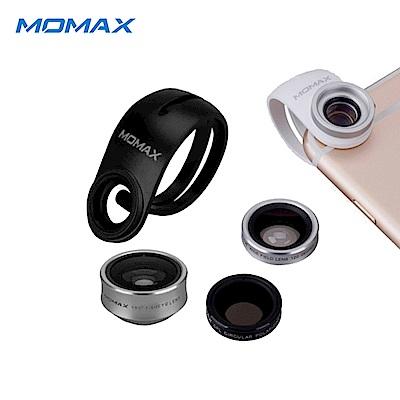 Momax X-Lens 4合1鏡頭組合(廣角 微距 魚眼 偏光鏡)