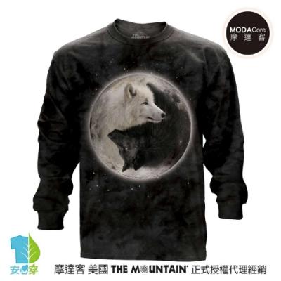 摩達客 美國進口The Mountain 陰陽狼 純棉長袖T恤