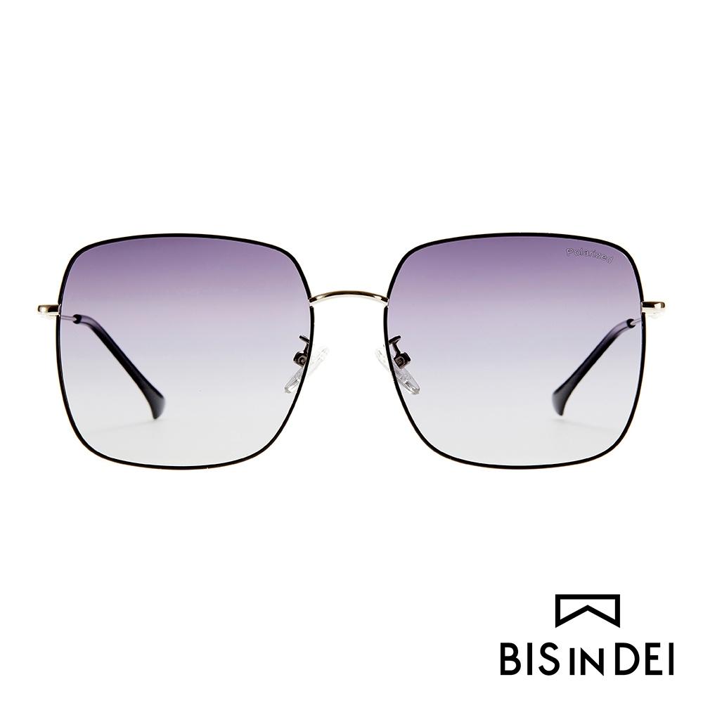 BIS IN DEI 俐落大方框太陽眼鏡-黑