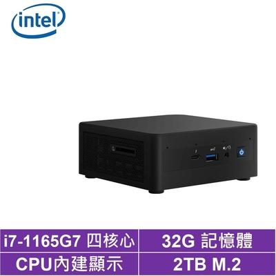 Intel NUC平台i7四核{金龍皇神} 迷你電腦(i7-1165G7/2TB M.2 SSD)