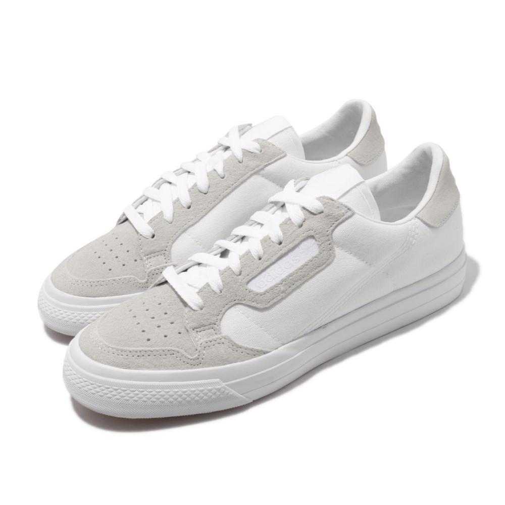 adidas 休閒鞋 Continental VULC 復古 男鞋 愛迪達 三葉草 麂皮 穿搭推薦 百搭 白 灰 EF3523