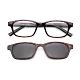 【 Z·ZOOM 】老花眼鏡 磁吸太陽眼鏡系列 時尚矩形粗框款(玳瑁色) product thumbnail 1
