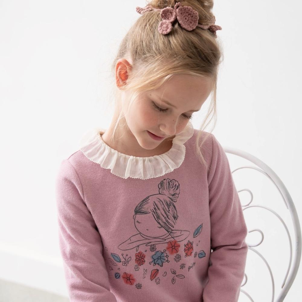 PIPPY  可愛小女孩 長袖洋裝 粉