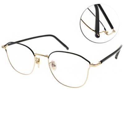 NINE ACCORD光學眼鏡  韓系小貓眼設計款/霧黑金-黑 #PLACO ISIS2 C1