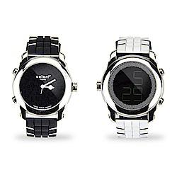 colore TWINS錶現心情錶出個性錶現時尚豹紋數位指針錶M06