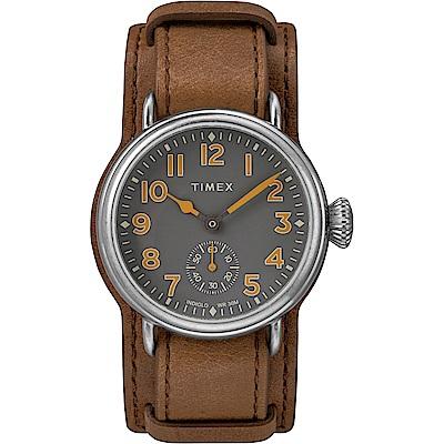 TIMEX 復刻系列 經典復古手錶-棕色/38mm