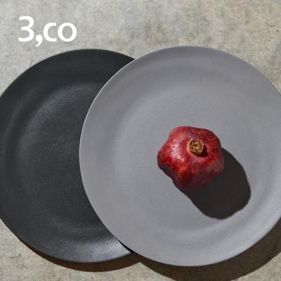3,co 水波主菜盤(2件式) - 灰+黑