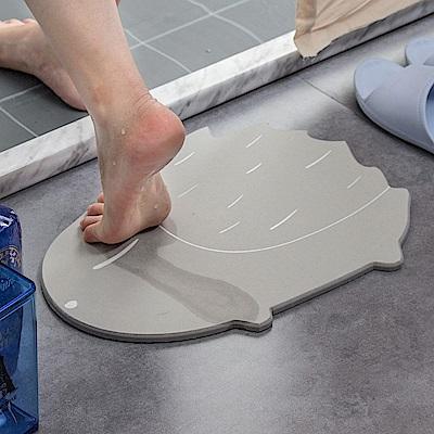 【樂嫚妮】珪藻土吸水速乾地墊/腳踏墊-彩繪刺蝟