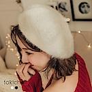 東京著衣 溫暖冬季純色舒適毛海貝雷帽(共二色)
