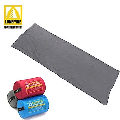 澳洲LONEPINE 輕薄柔軟刷毛信封式睡袋/懶人毯/睡袋內套/被套 灰色