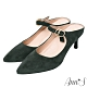 Ann'S美型不散場-顯瘦瑪莉珍尖頭穆勒細跟鞋-綠 product thumbnail 1