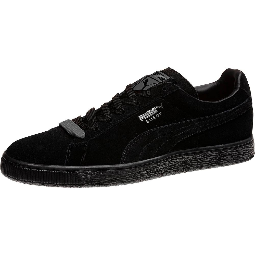 PUMA-Suede Classic+ 男女復古籃球運動鞋-黑色