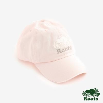 ROOTS配件   經典海狸撞色棒球帽-粉色