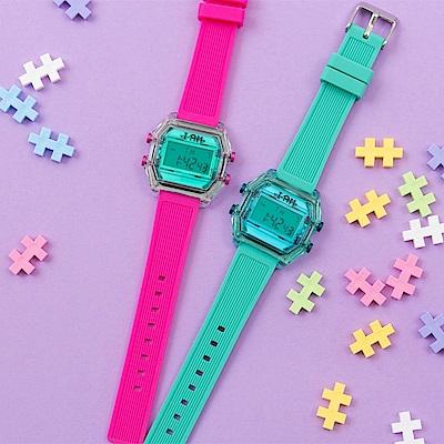 I AM 玩色新革命電子錶-湖水綠錶盤_小(IAM-010)37x40mm