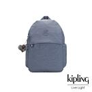 Kipling 沉穩霧藍色輕便大容量後背包-AMZIE
