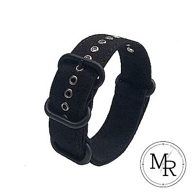 MR 20mm ROLEX 勞力士/黑水鬼 NATO款帆布/三環錶帶