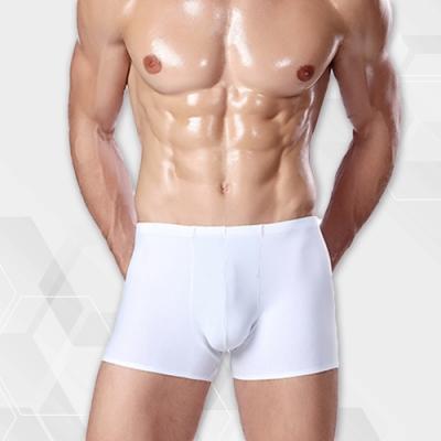 男內褲 涼感冰絲輕薄無痕素面男內褲 簡約白 L-3XL ThreeShape