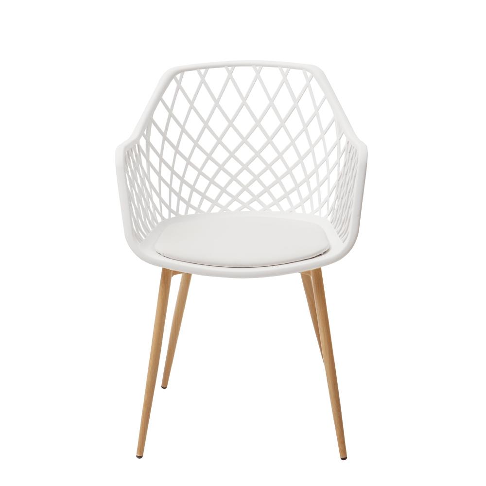 完美主義 幾何簍空百搭餐椅/化妝椅/會議椅/休閒椅/書桌椅(3色)