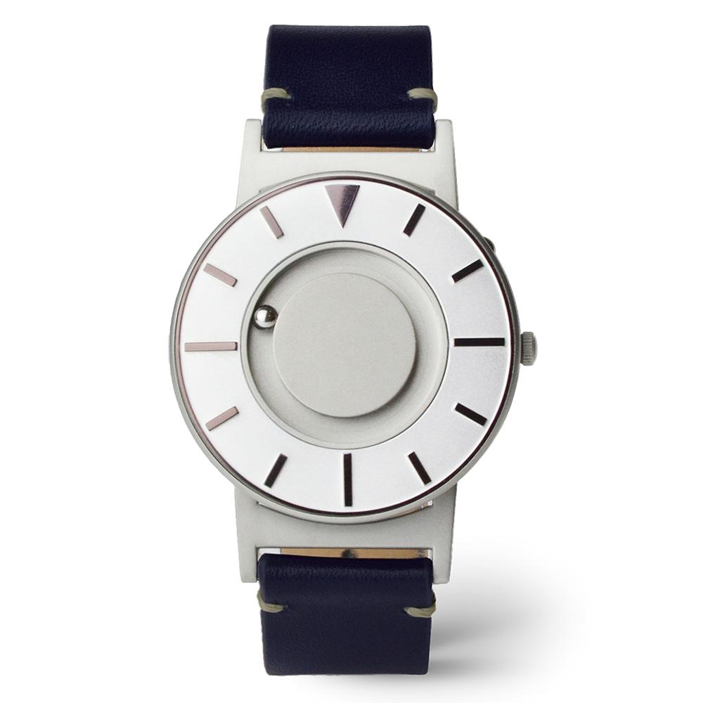 EONE 美國設計品牌 Bradley 觸感腕錶-耀眼紫-紳藍錶帶