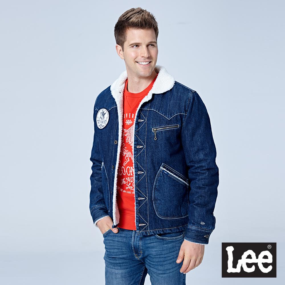 Lee 毛尼牛仔外套/101+中深藍