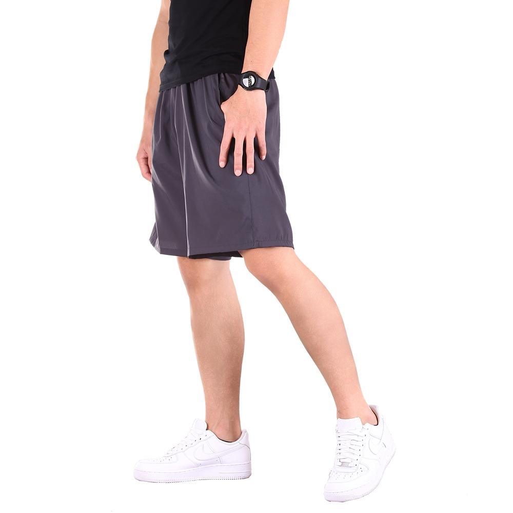 CS衣舖 機能輕量 吸濕排汗 速乾 運動短褲 多款任選 (A款-灰色)