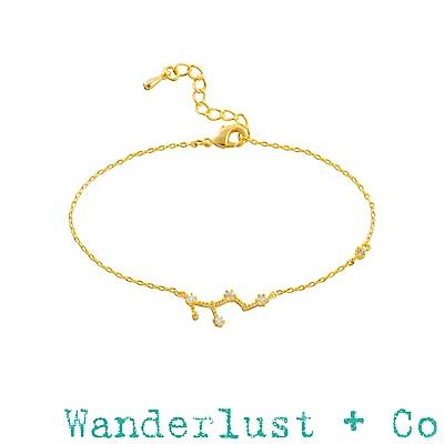 Wanderlust+Co 澳洲品牌 處女座手鍊 金色鑲鑽手鍊 VIRGO