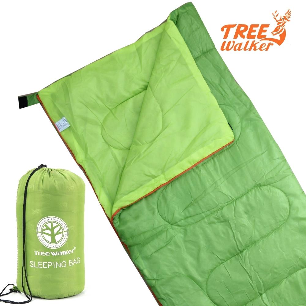TreeWalker 輕便纖維睡袋-青綠/青綠