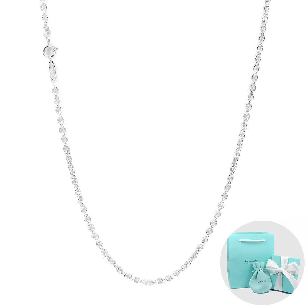 Tiffany&Co. 經典橢圓鍊純銀項鍊 30吋