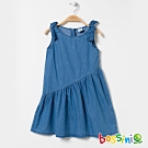 bossini女童-丹寧連身洋裝淡藍