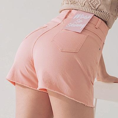 AIR SPACE 不收邊軟料顯瘦褲裙(粉紅)