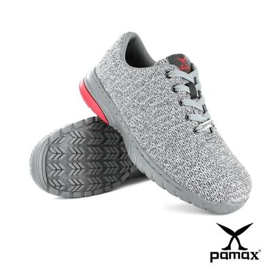 PAMAX帕瑪斯【超彈力機能墊】運動透氣型止滑安全鞋-PS1123FEH-輕量-彈性緹花布-除臭抗菌-反光設計