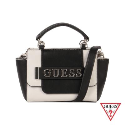 GUESS-女包-金屬LOGO質感手提肩背包-雙色