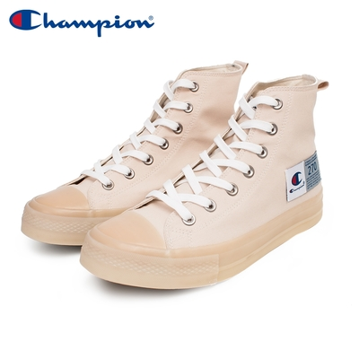 【Champion】男/女 帆布鞋 高筒帆布鞋 JELLY HI-CANVAS -米/卡其(USLS-1015-77)