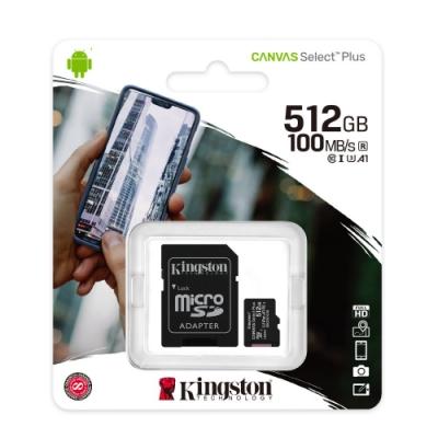 金士頓 KINGSTON SDCS2 MicroSDXC 100MB 512G U3 A1 記憶卡