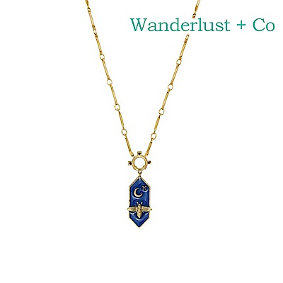 Wanderlust+Co 澳洲時尚品牌 BEE蜜蜂之夜項鍊 金色