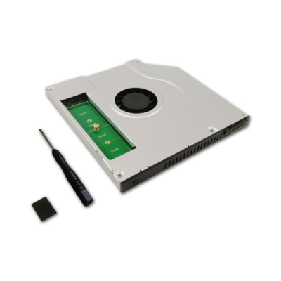 Awesome 9.5mm SATA M.2/NGFF 筆電光碟轉接架 – AWD-AC-SSD33