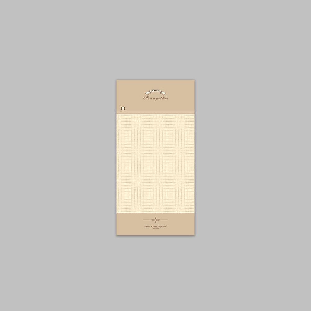 ByNACOO 復古便條紙-08 方格紋
