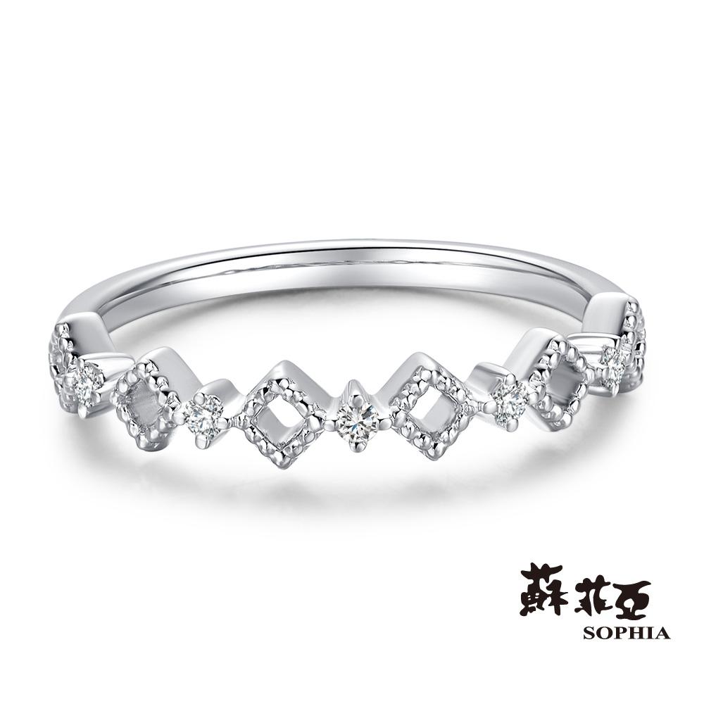 蘇菲亞SOPHIA - 堅定不移鑽石線戒