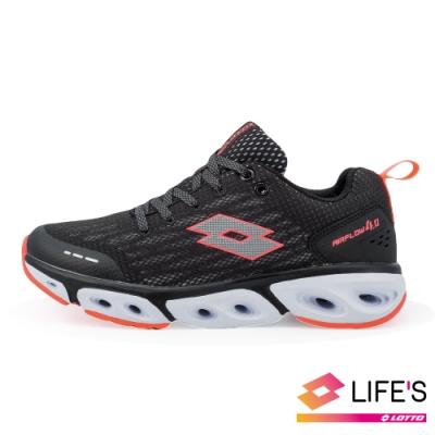 LOTTO 義大利 女 AIR FLOW 4.0  風動跑鞋 (黑)