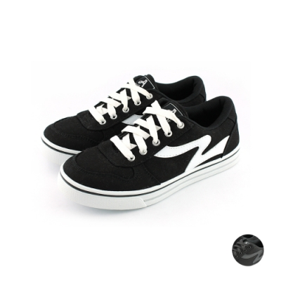 ARRIBA艾樂跑女鞋-基本款帆布鞋-黑白/全黑(AB8029)
