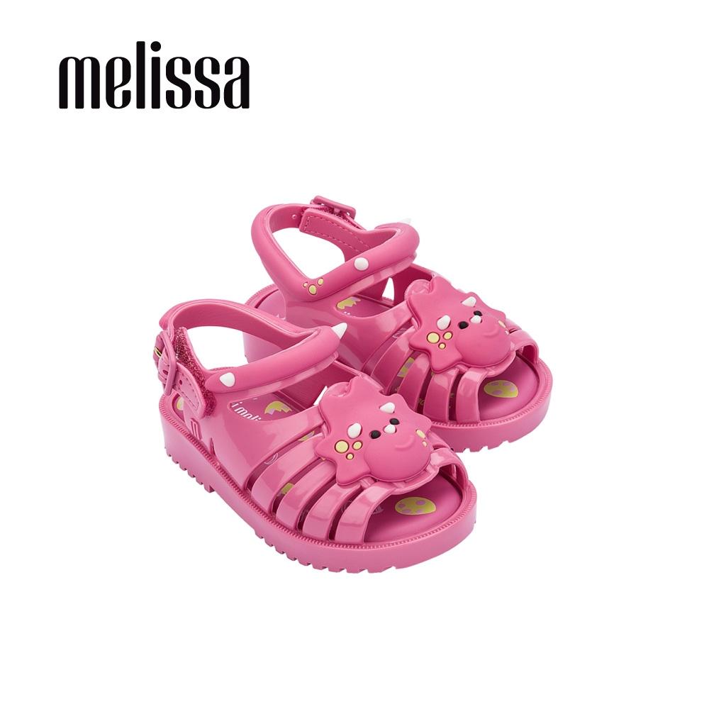 Melissa FRANCXS Q版恐龍造型涼鞋 寶寶款-粉紫