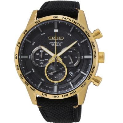 SEIKO精工石英錶50週年經典計時手錶(SSB364P1)