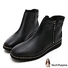 Hush Puppies CHOWCHOW冬感輕量短靴-黑