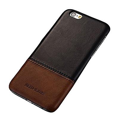 KEZiHOME 復古系列 iPhone 6/6s Plus 真皮拼接背蓋手機殼
