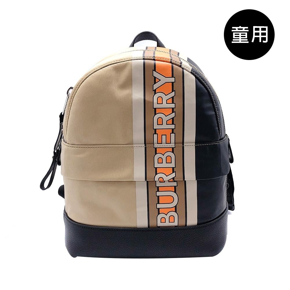 BURBERRY 經典印花圖騰雙肩背(8023910-拚色)