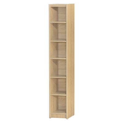 【綠活居】基斯坦   現代1尺六格書櫃/收納櫃(三色可選)-30.5x30x181cm免組